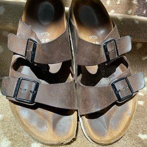 Birkenstock's for Men Brown Leather